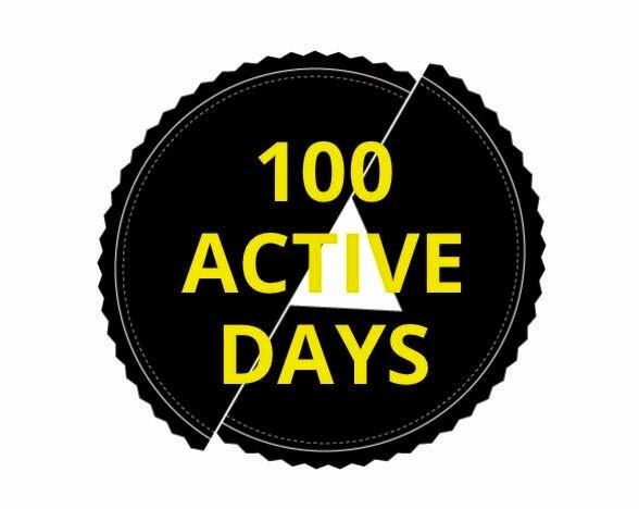 #100ActiveDays logo