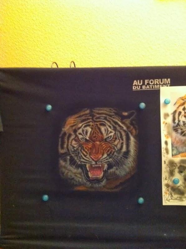 photo(9) tuto et pas a pas tigre sur teeshirt peinture aérographe