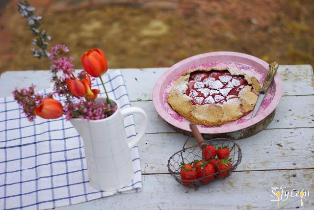 Receta de galette de fresas.