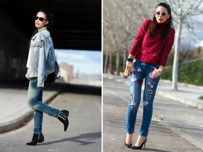 Patched Jeans con parches y stilettos de Joaquim Ferrer