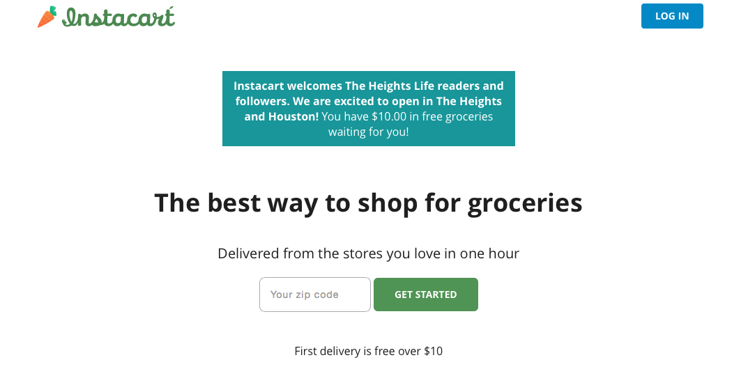 Instacart coupon codes