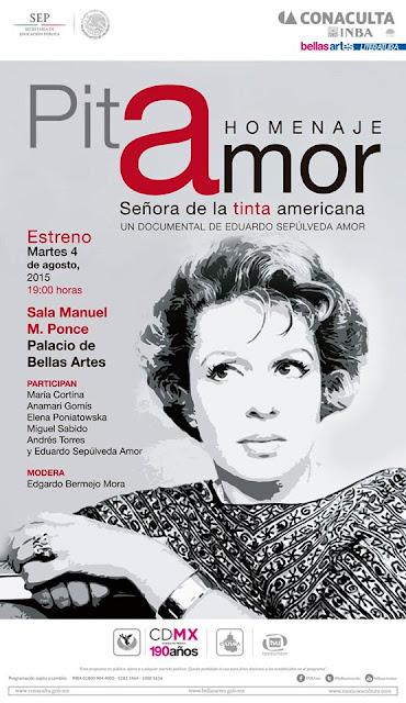Homenaje a la escritora Pita Amor en el Palacio de Bellas Artes