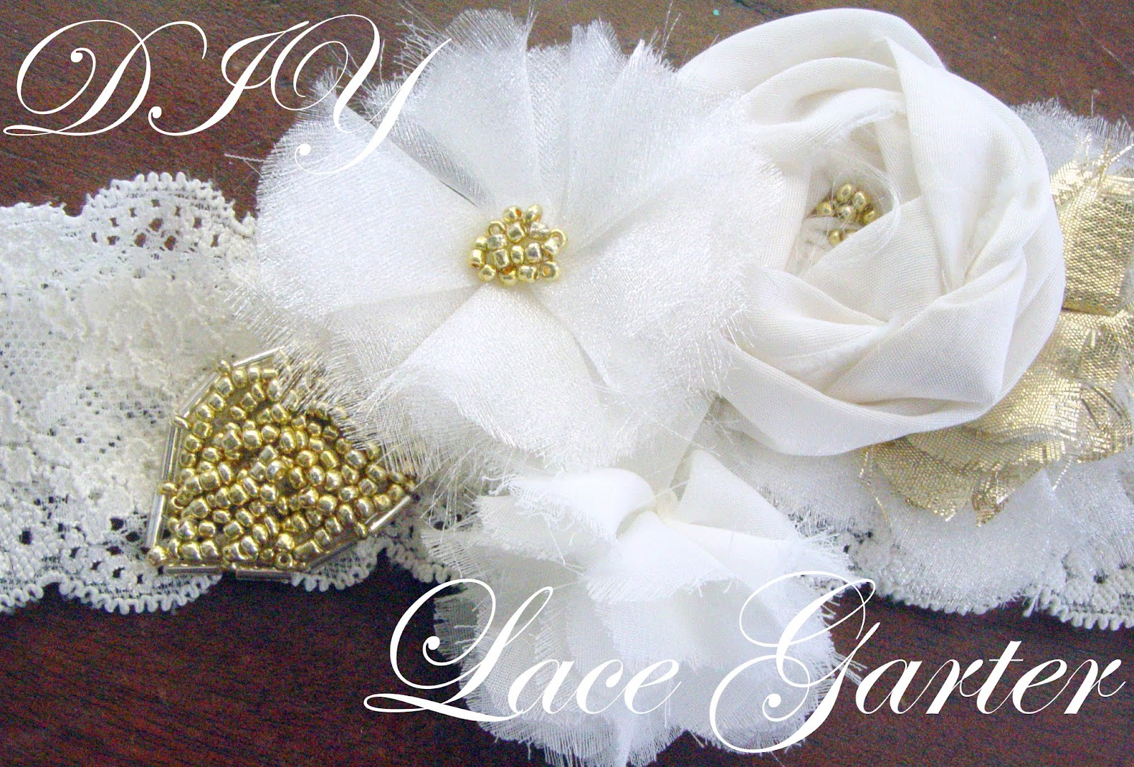 So Creative DIY Wedding Day Garter Tutorial