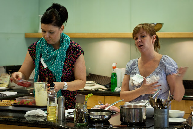 Sharon Hearne-Smith and Jocasta Clarke at Irish Food Bloggers workshop