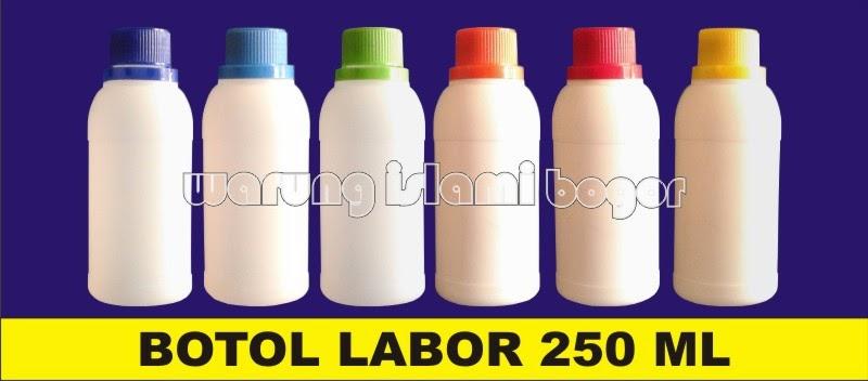 Jual Botol Labor HDPE 250ml Tutup Warna Warni