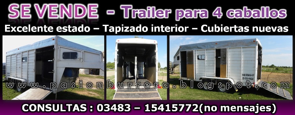 SE VENDE - TRAILER 4 CABALLOS