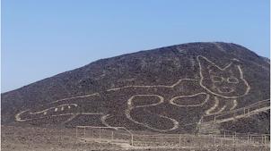 Un nouveau géoglyphe en forme de félin découvert à Nazca au Pérou
