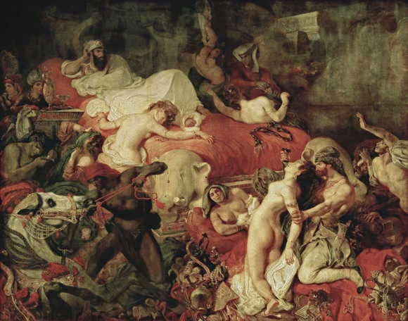Lukisan Eugene Delacroix Death of Sardanapalus