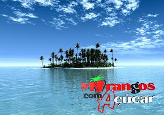 Morangos com Açucar Posters Wallpapers Grátis Logotipo da série juvenil portuguesa em fundo Ilha Paradisíaca