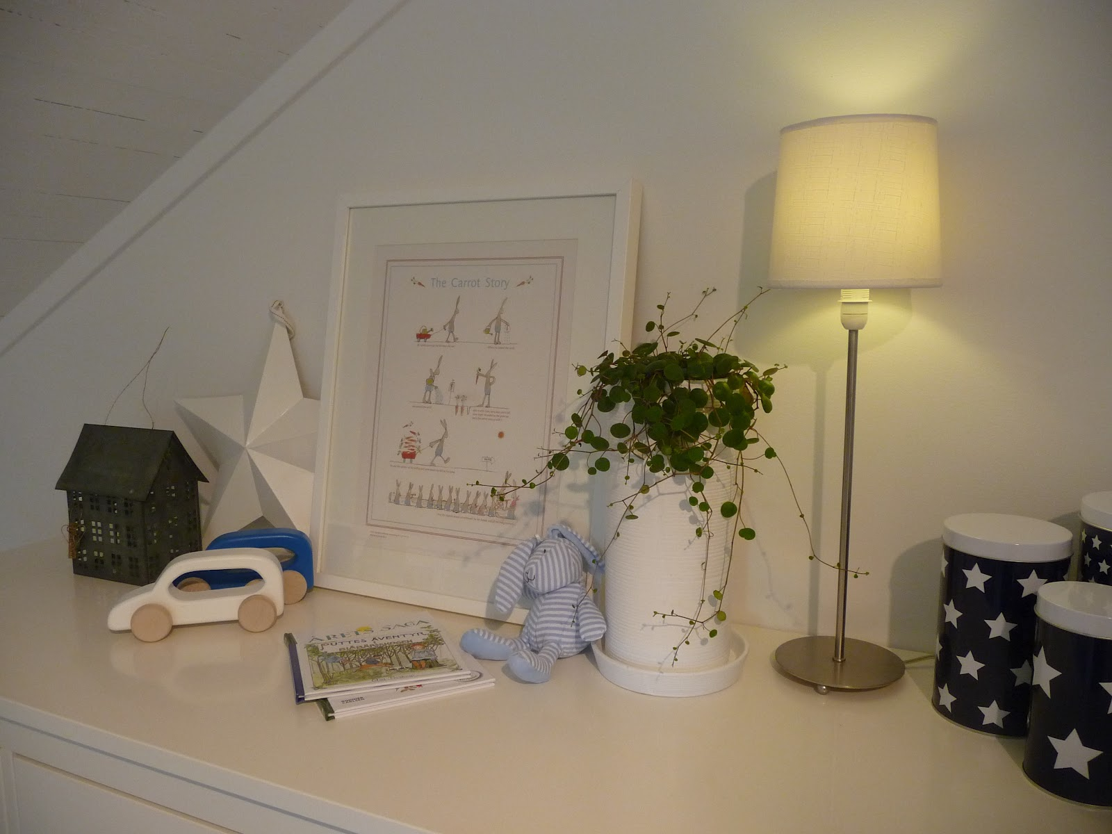 Vitt och blått: Olles rum