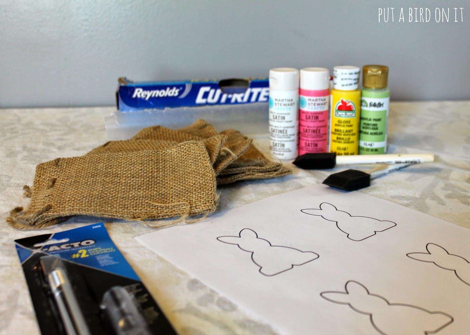burlap bunny treat bags for easter creative ramblings