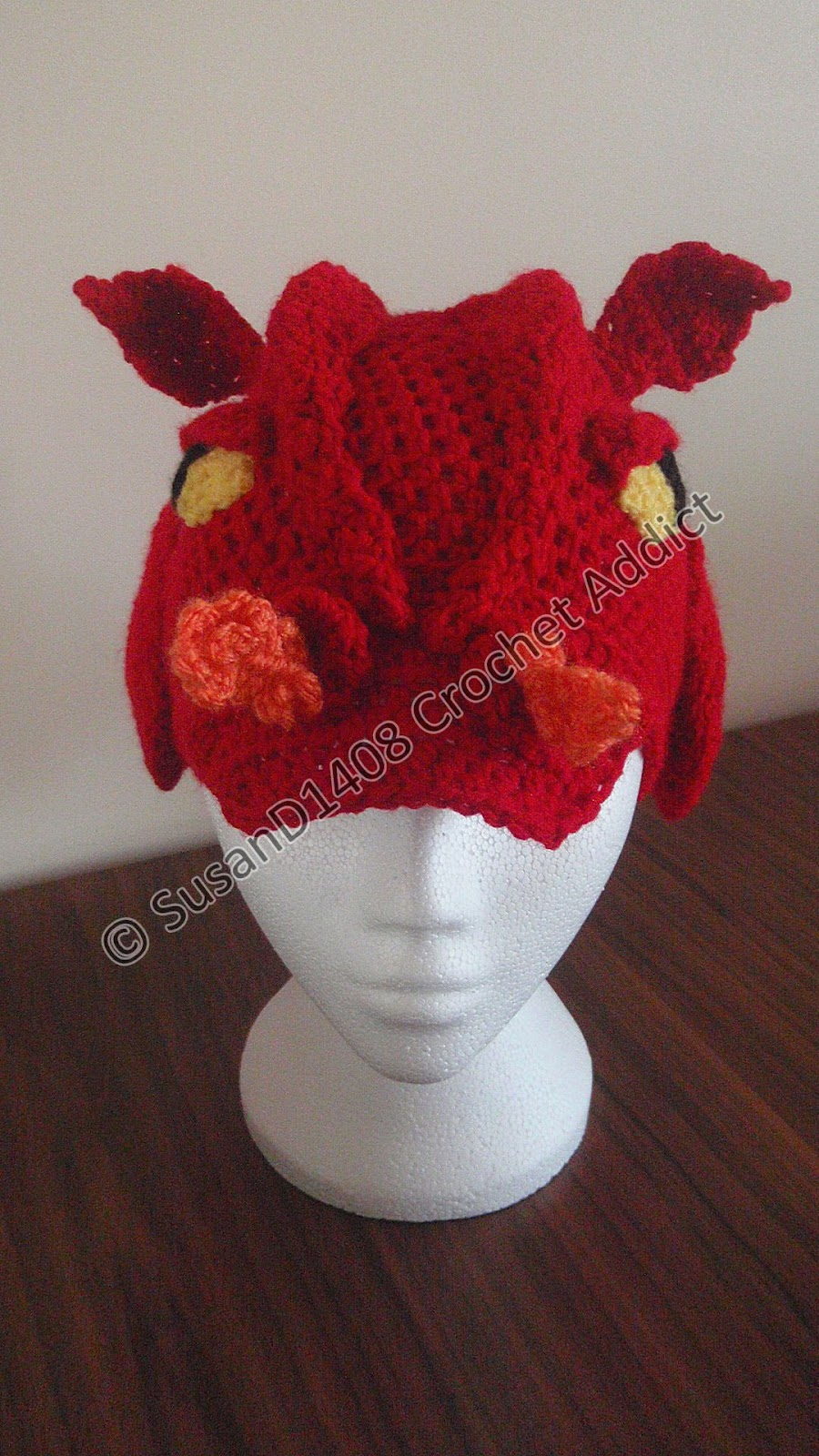 Baby Dragon Hat Crochet Pattern Free : Dragon Hat Finished ~ Crochet Addict CFS
