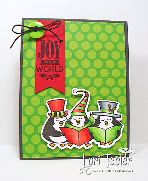 Joy to the World card-designed by Lori Tecler/Inking Aloud-stamps and dies from The Cat's Pajamas