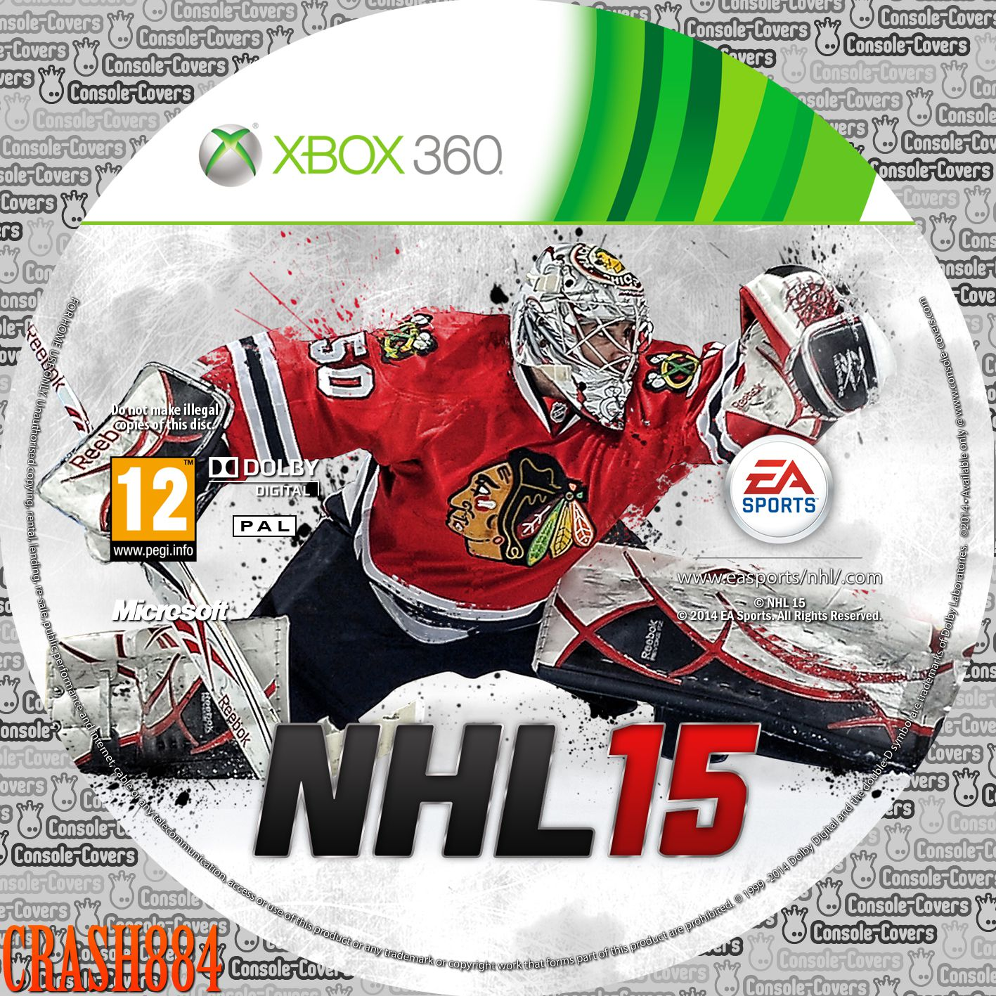 Label NHL 15 Xbox 360