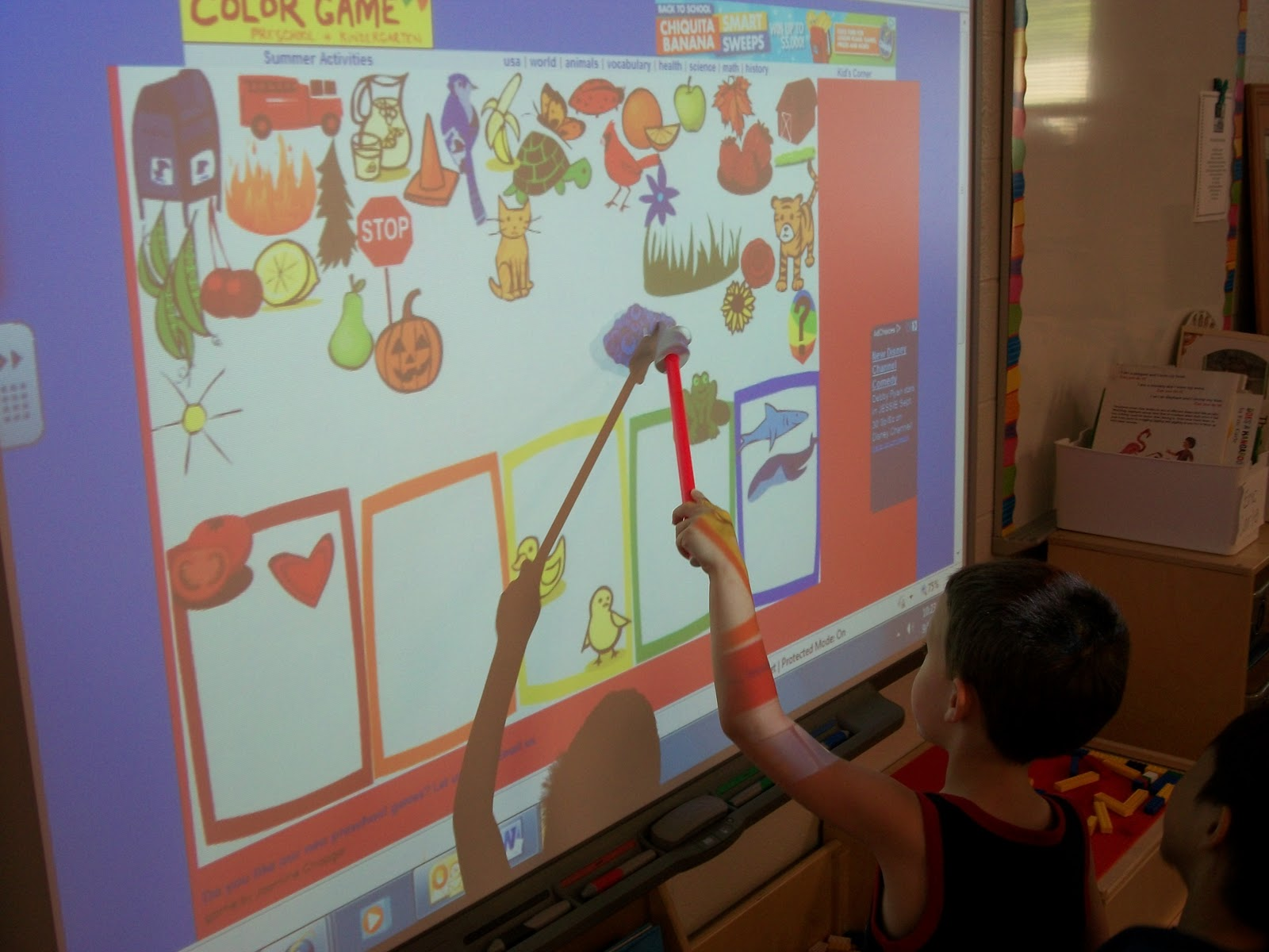 Kindergarten Calendar Interactive Whiteboard : Keeping up with the kindergartners green and blue purple