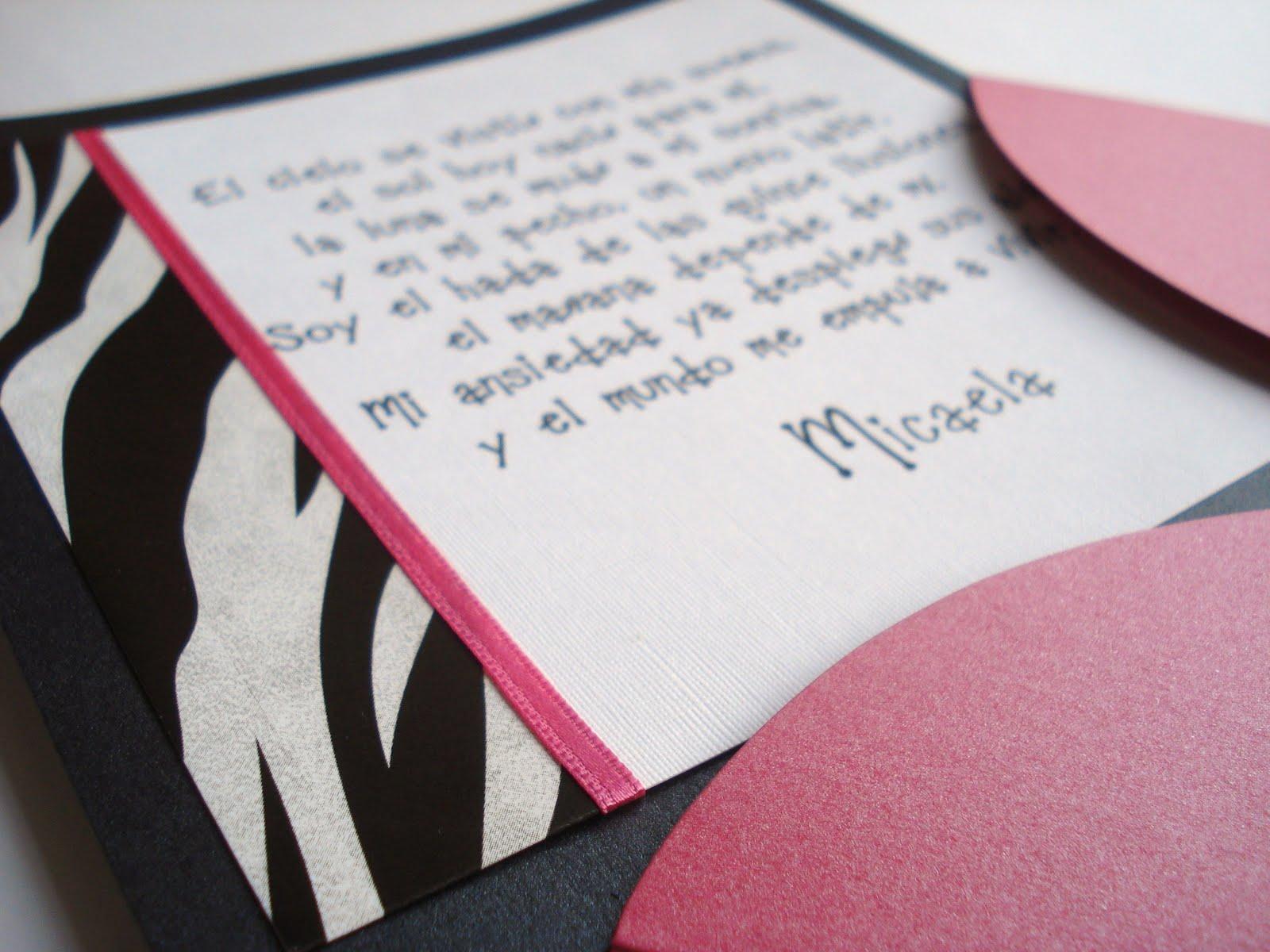 Tarjetas e Invitaciones Pamela Flavia ...