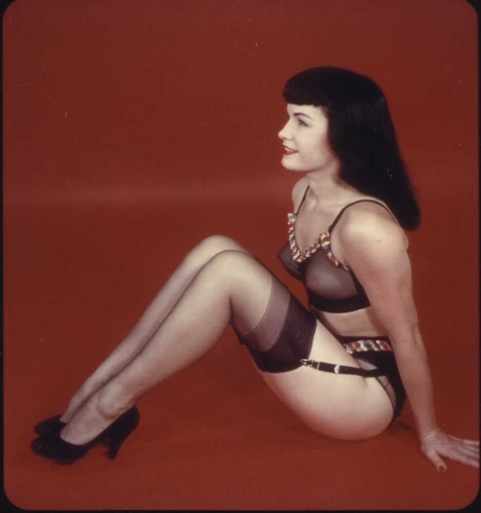 Bettie page nude color