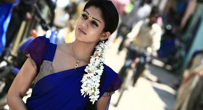 nayantara in half saree cute stills