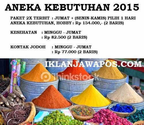 Iklan Baris Jawa Pos Murah 2015 Paket Aneka Kebutuhan