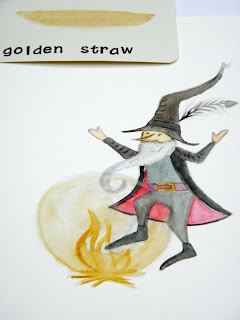 Golden straw colors inspired by the fairy tale Rumplestiltskin.