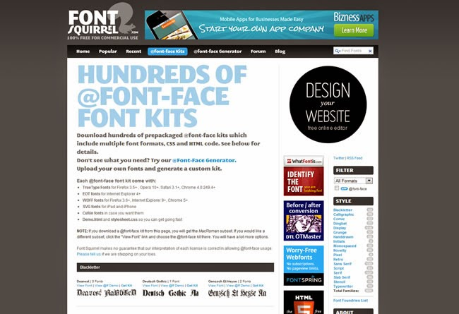 How to use the @font-face