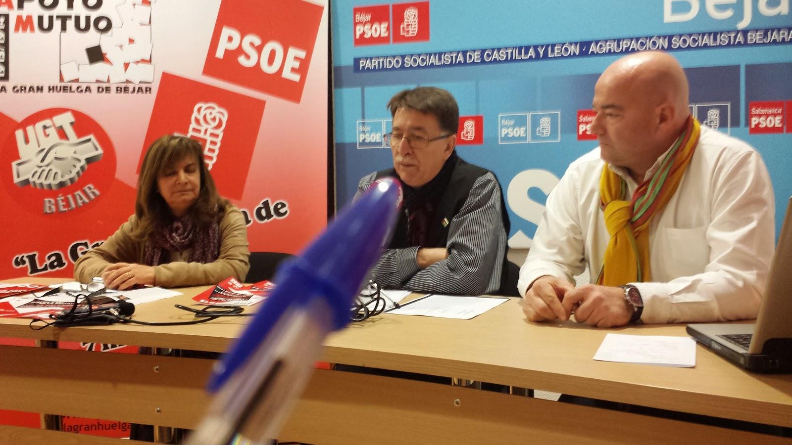 Maripaz Martín Estevez, UGT, CIpriano Gonzalez y Javier Garrido ASB