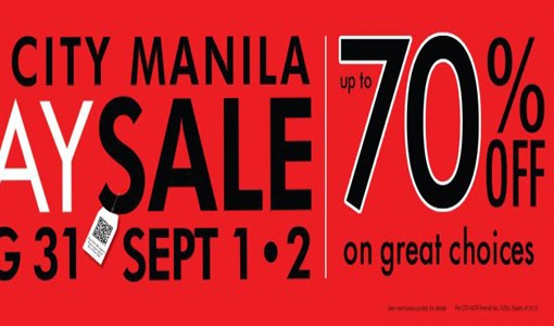 Sale Alert: SM City Manila 3-day Sale on Aug. 31, Sept. 1 & 2