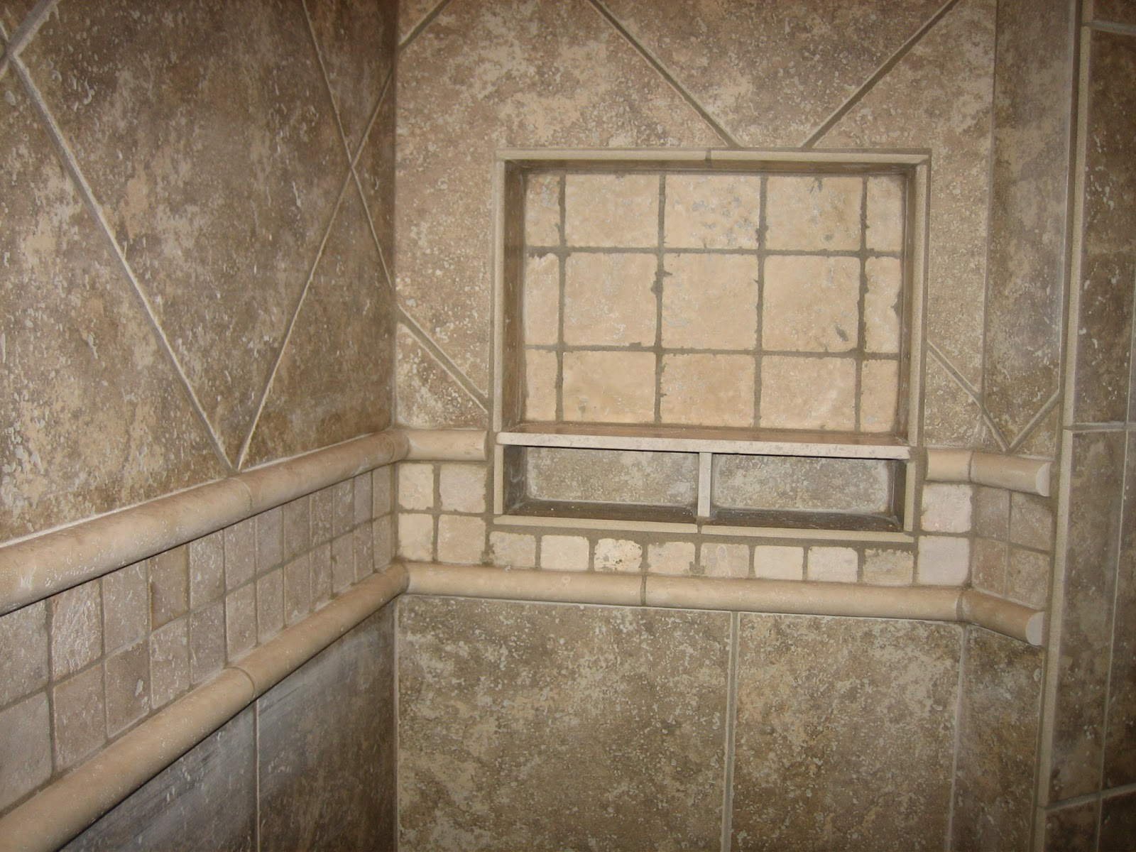 Small Shower Stall Replaced With A Door Less Walk In Tiled Shower