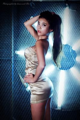 Cha Jung Ah Sexy Gold Dress