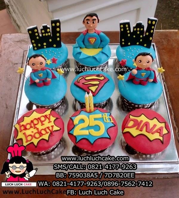 Cupcake Superman Cute Daerah Surabaya - Sidoarjo