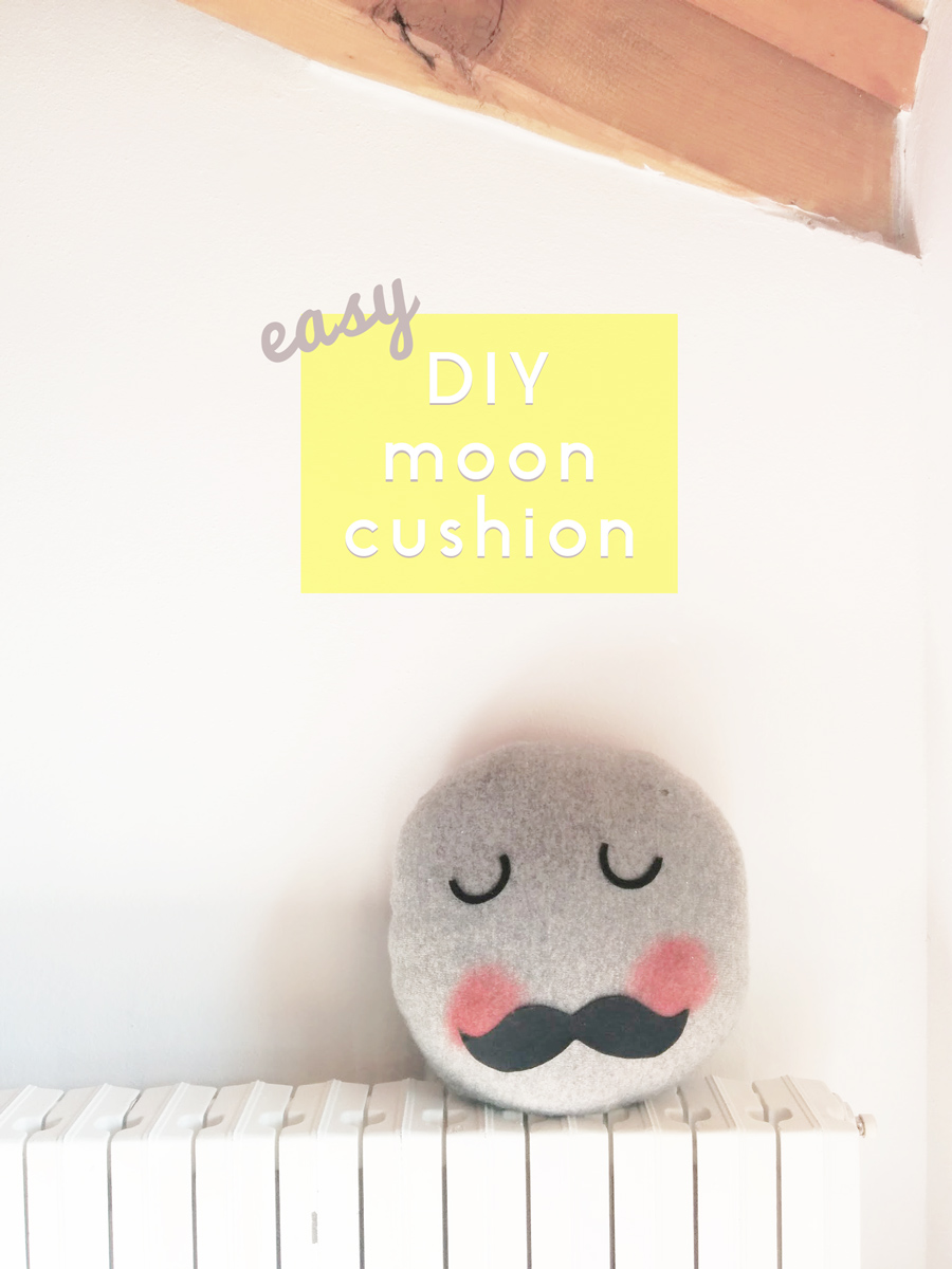 sew an easy DIY moon pillow