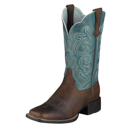 Total Fab: Turquoise Cowboy Boots for WomenEven Wide Calf Styles