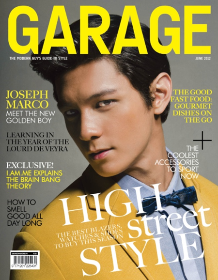 Joseph Marco Hot on Garage June 2012 Cover