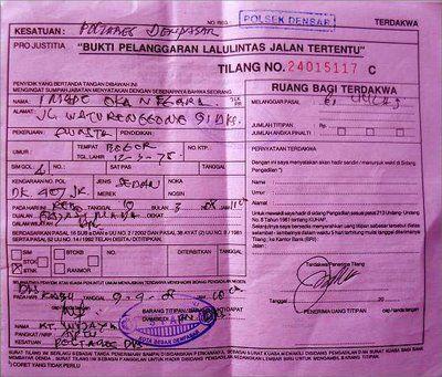 Prosedur Meminta SLIP Biru Saat Kena Razia Polisi