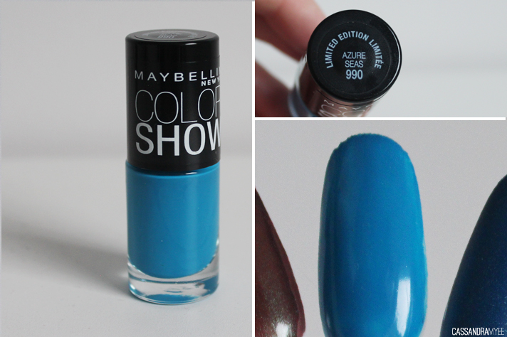 MAYBELLINE // Color Show Nail Polishes - Azure Seas - cassandramyee