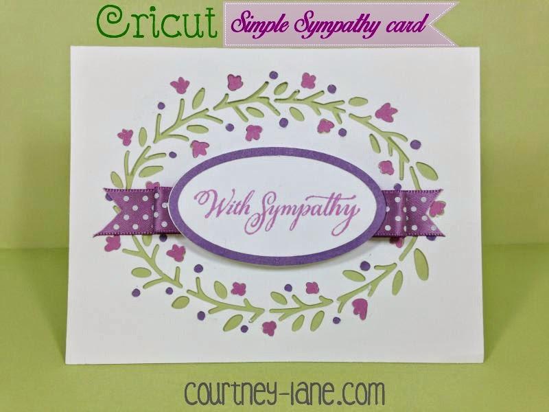 Simple, but elegant Sympathy card