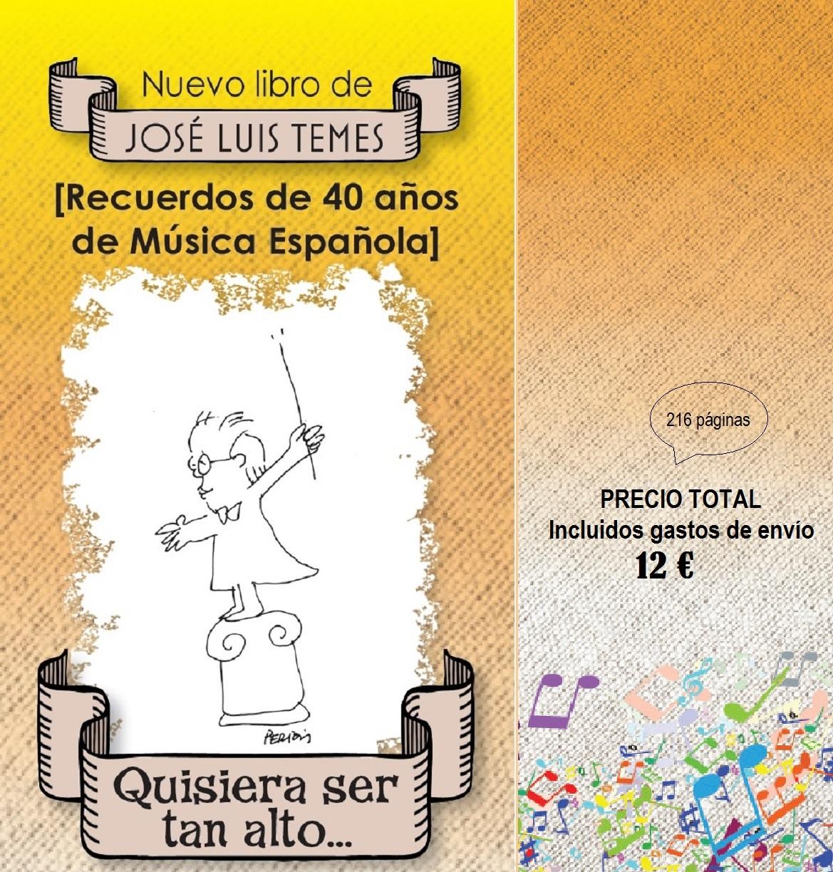 Presentación en SGAE Madrid                           NUEVO LIBRO DE JOSÉ LUIS TEMES