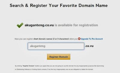Cara Mendapatkan Domain CoVu Gratis
