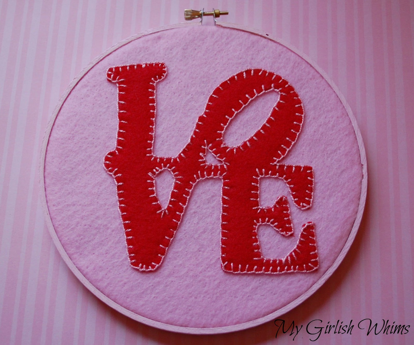 Valentines Day Love Embroidery My Girlish Whims