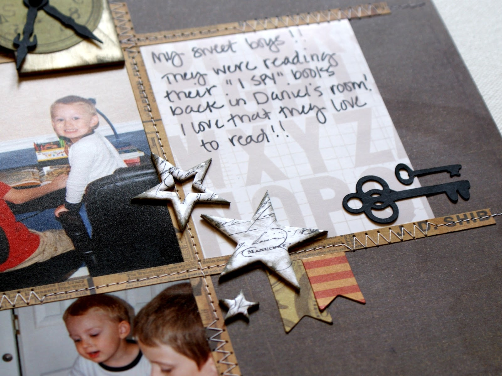 how to put a post bound scrapbook back together