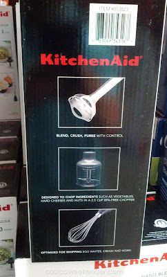KitchenAid KHB2352CU 3 Speed Hand Blender chops, blends, purees, and whisks!