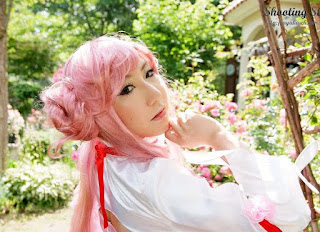 Saku cosplay as Euphemia Li Britannia from Code Geass