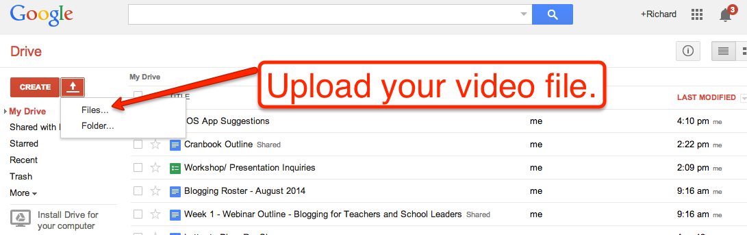Free Technology for Teachers: Use Google Drive to Share Videos ...