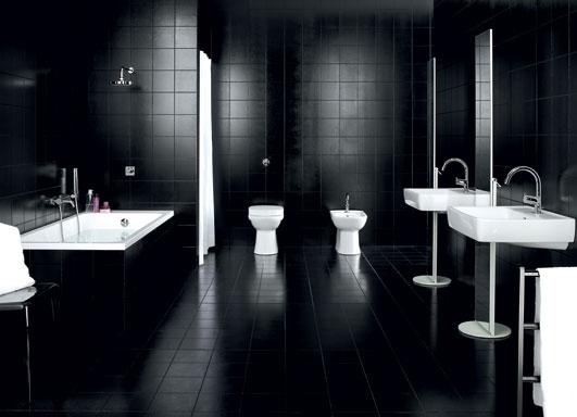 Decorar Un Baño Rojo:Un color de tendencia en la decoración de baños es el negro Un