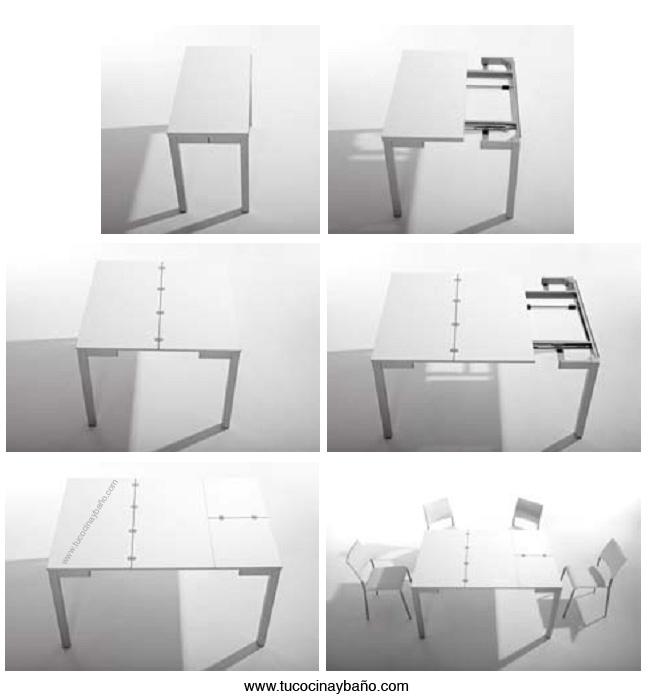 mesa pequeña extensible 100x50 100x100 140x100