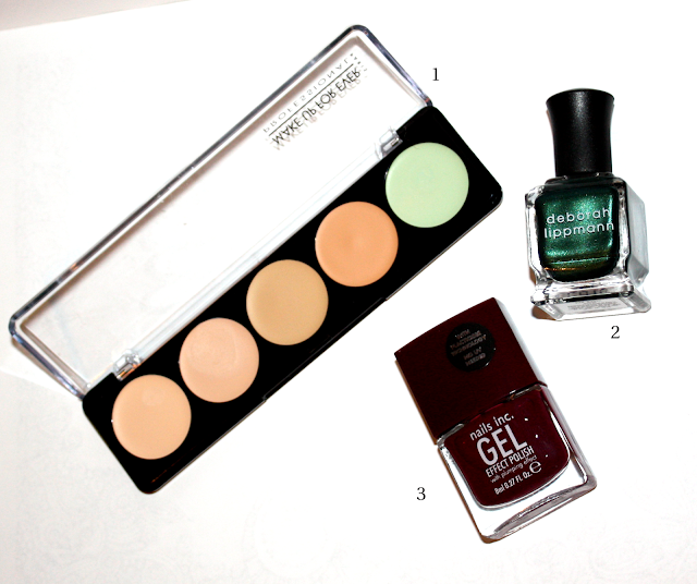 Best Products of 2013: Make Up For Ever 5 Camouflage Cream Palette in No. 1, Deborah Lippmann Laughin' to the Bank, Nails Inc. Gel Effect Polish in Kensington High Street