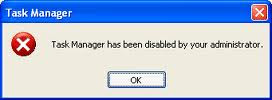 Enable Task Manager disabled by Administrator or Virus