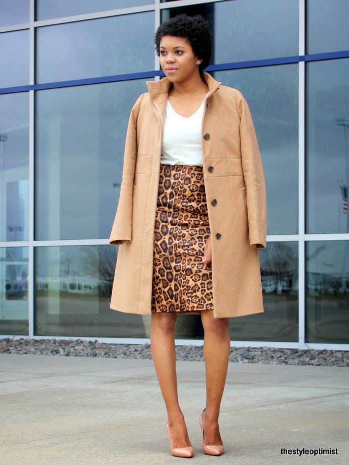 black quilted bag, jcrew-camel-coat, nude pigalle, christian louboutin pigalle, how to wear leopard, leopard and camel outfit, natural hair, twa,