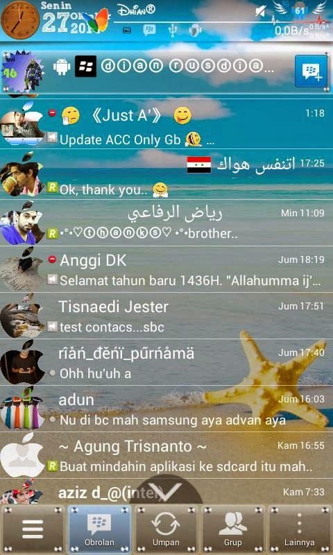 Membuat Background BBM (Blackberry Messenger) Transparan? Ini Cara-nya!
