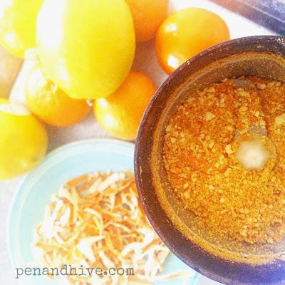 ground lemon peel